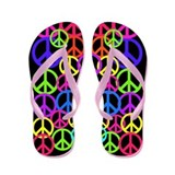 Peace Symbol FF.PNG Flip Flops