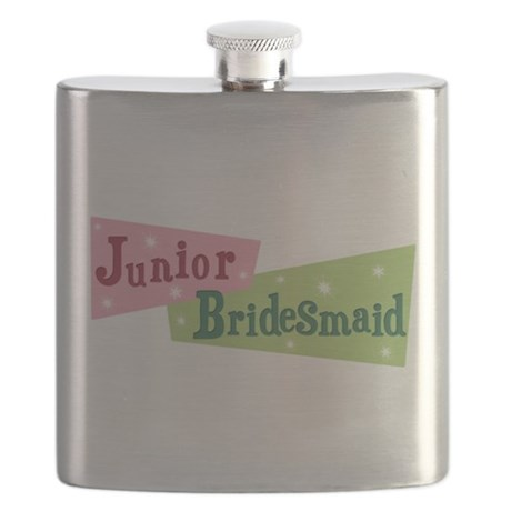 retro junior bridesmaid.png Flask