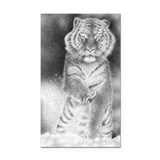 Siberian Tiger Rectangle Car Magnet