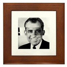 I am Not a Crook! Nixon Obama Framed Tile