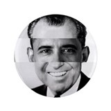"I am Not a Crook! Nixon Obama 3.5"" Button"