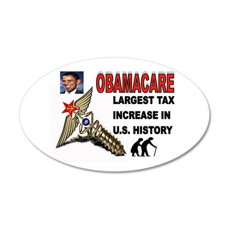 OBAMACARE SCREW.jpg 35x21 Oval Wall Decal