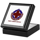 DUI - Fort Carson DENTAC with Text Keepsake Box
