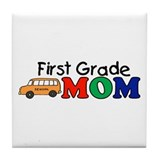 First Grade Mom Tile Coaster