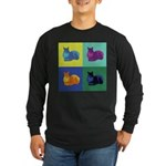 Pop Art Squirrel Long Sleeve Dark T-Shirt