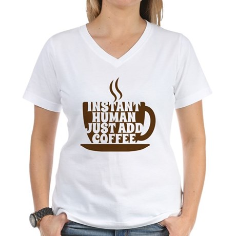 instant human Women's V-Neck T-Shirt