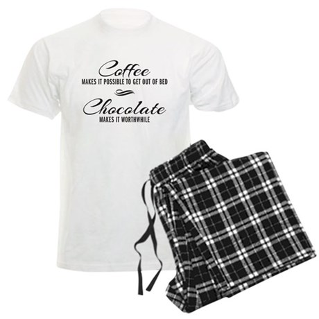 Coffee Chocolate Men's Light Pajamas