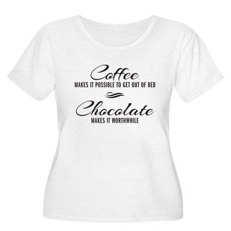 Coffee Chocolate Women's Plus Size Scoop Neck T-Sh
