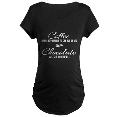 Coffee Chocolate Maternity Dark T-Shirt