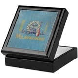 Vintage Milwaukee Flag Keepsake Box