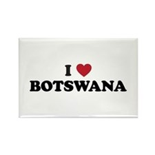 I Love Botswana Rectangle Magnet