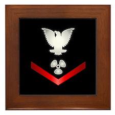 Navy PO3 Machinist's Mate Framed Tile