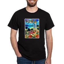 Cuba Travel Poster 6 T-Shirt