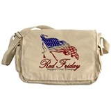 Red Friday Support Messenger Bag