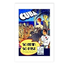 Cuba Travel Poster 8 Postcards (Package of 8)