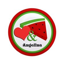 "Love and Watermelon - Personalized 3.5"" Butto"