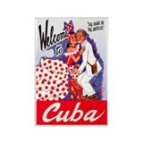 Cuba Travel Poster 5 Rectangle Magnet