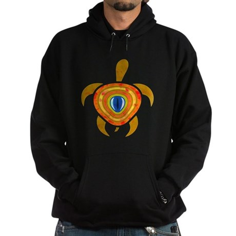 Orange Eye Turtle Hoodie (dark)
