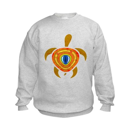 Orange Eye Turtle Kids Sweatshirt