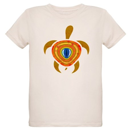 Orange Eye Turtle Organic Kids T-Shirt