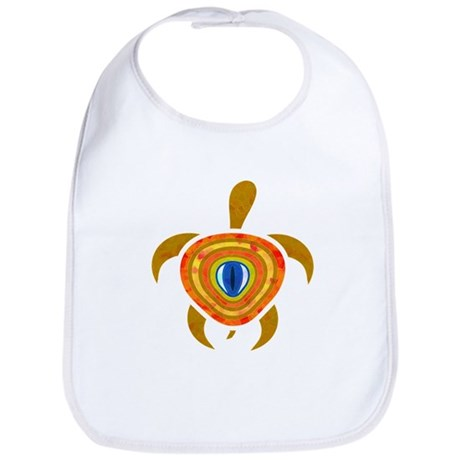 Orange Eye Turtle Bib