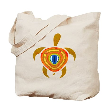 Orange Eye Turtle Tote Bag
