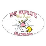 Angelic Stepmom Sticker (Oval 10 pk)