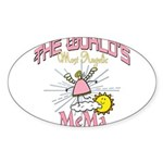 Angelic Mema Sticker (Oval 10 pk)