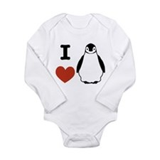 I love Penguins Long Sleeve Infant Bodysuit
