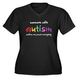 Proud Autism Women's Plus Size V-Neck Dark T-Shirt