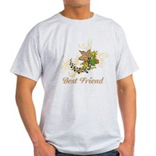 Best Friend. Swirls and Leaves. T-Shirt