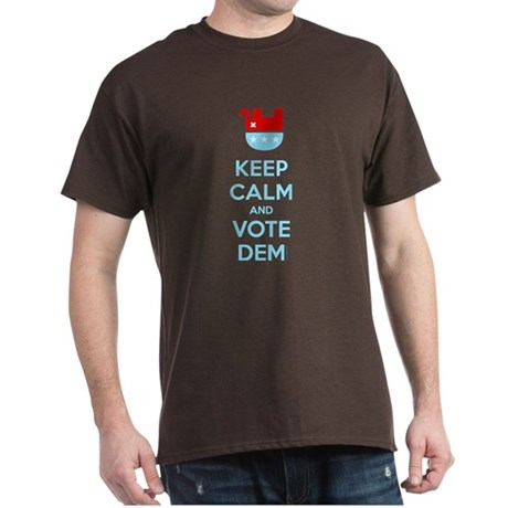 Keep Calm And Vote Dem Dark T-Shirt