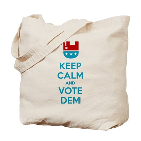 Keep Calm And Vote Dem Tote Bag
