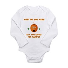 Cute Trick or treat candy Long Sleeve Infant Bodysuit