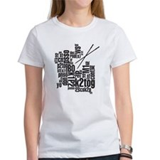 Knitting Abbreviation Cloud Tee