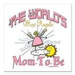 Angelic New Mom Square Car Magnet 3