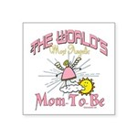 Angelic New Mom Square Sticker 3