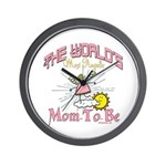 Angelic New Mom Wall Clock