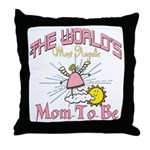 Angelic New Mom Throw Pillow