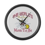 Angelic New Mom Large Wall Clock
