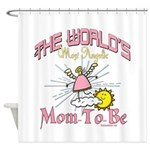 Angelic New Mom Shower Curtain