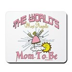 Angelic New Mom Mousepad