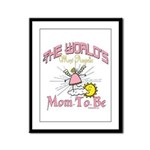 Angelic New Mom Framed Panel Print