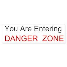 Entering Danger Zone Custom Bumper Sticker
