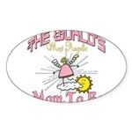 Angelic New Mom Sticker (Oval 10 pk)