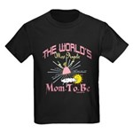 Angelic New Mom Kids Dark T-Shirt