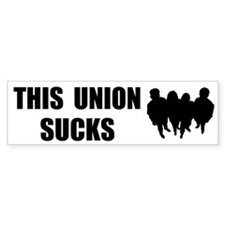 This Union Sucks Custom Bumper Sticker