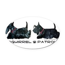 Squirrel Patrol 19x8 trans.png Oval Car Magnet