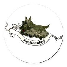 Scottie agility 2.png Round Car Magnet