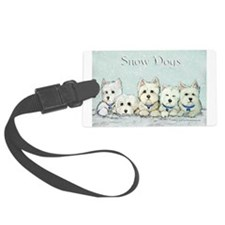 Snow Dogs w lettering.png Luggage Tag